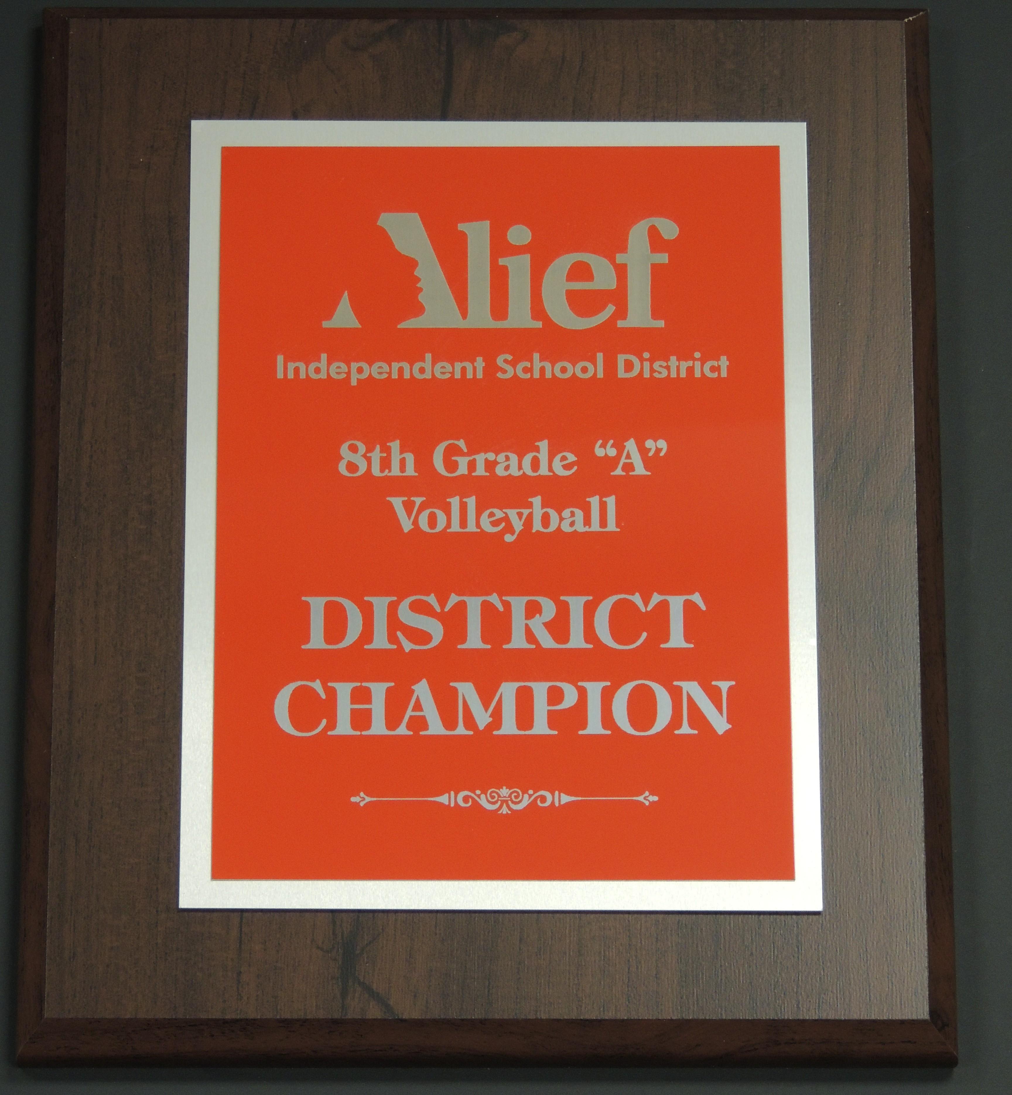 Awards name plates freeport tx red silver on cherry finish jeuxipadfo Images